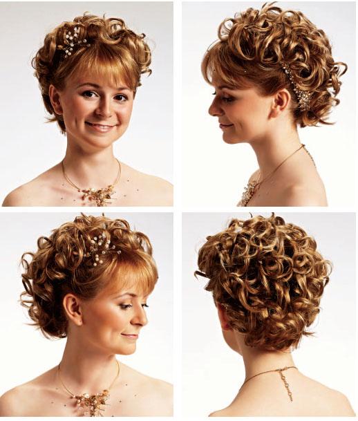 Причёски на короткие волосы с чёлкой для женщин на торжество